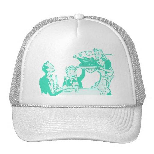 Retro Thanksgiving Dinner Trucker Hats