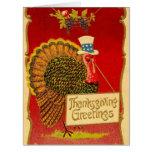 Retro Thanksgiving Turkey Greeting Cards