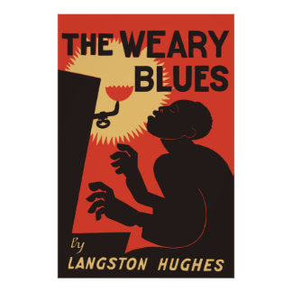 Retro The Weary Blues (music) Poster