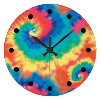 Retro Tie Dye Clocks
