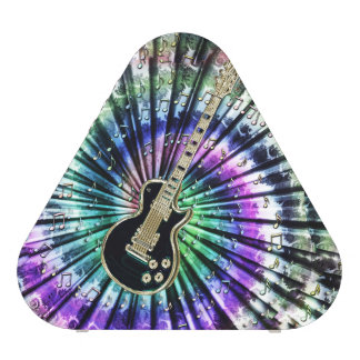 Retro Tie-Dye Electric Guitar Music Speaker