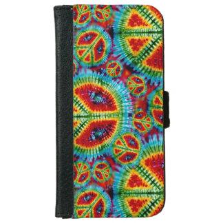 Retro Tie Dye Peace Signs iPhone 6 Wallet Case