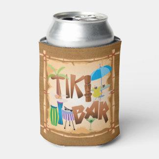 Retro Tiki Bar Party Can Cooler