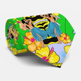 retro tiki hula tropical men's tie beach wedding