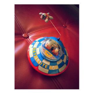 Retro Tin Flying Saucer Postcards
