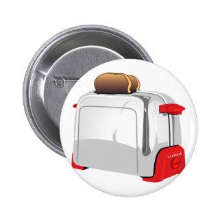 Retro Toaster Pinback Button