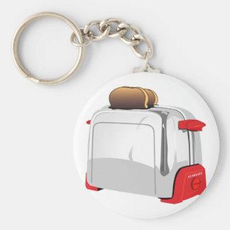 Retro Toaster Basic Round Button Key Ring