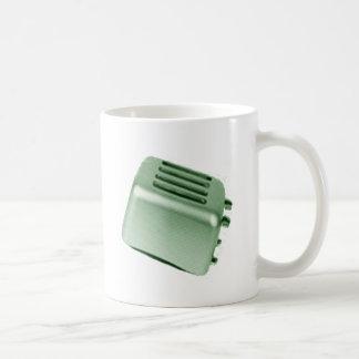 Retro Toaster - Green Basic White Mug