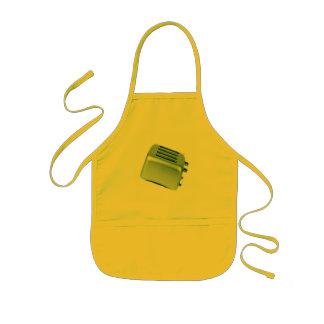 Retro Toaster - Green Kids Apron