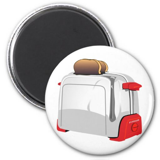Retro Toaster Refrigerator Magnets