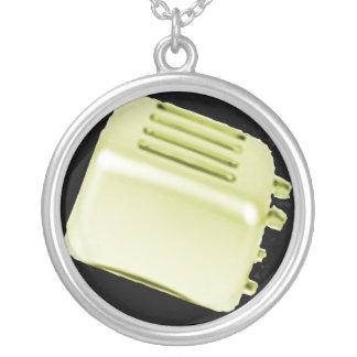 Retro Toaster Round Pendant Necklace