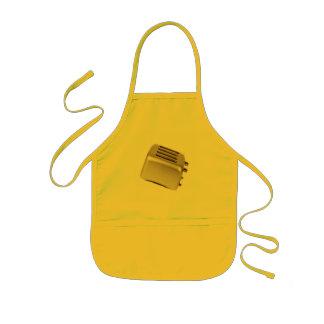 Retro Toaster - Orange Kids Apron