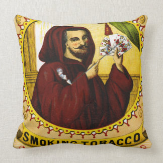 Retro Tobacco Label 1869 c Throw Pillow
