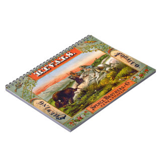 Retro Tobacco Label 1872 d Notebook