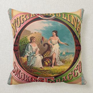 Retro Tobacco Label 1879 Throw Pillow