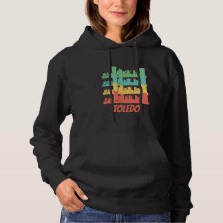 Retro Toledo OH Skyline Pop Art Hoodie