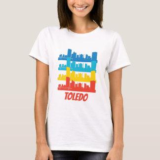 Retro Toledo OH Skyline Pop Art T-Shirt