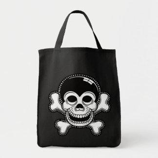 Retro Toon Monkey Pirate Skull Bag