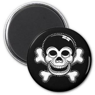 Retro Toon Monkey Pirate Skull Fridge Magnets