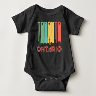 Retro Toronto Skyline Baby Bodysuit