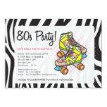 Retro Totally 80's Roller Skates Birthday Party 13 Cm X 18 Cm Invitation Card