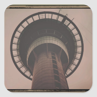 Retro Tower Square Sticker