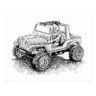 Retro toy Off-Road Vehicle/Hydroplane Postcard