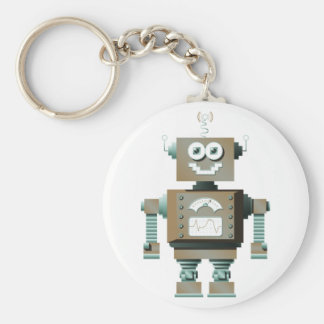 Retro Toy Robot Keychain (lt)