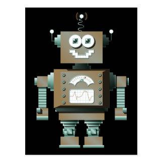 Retro Toy Robot Postcard (dk)