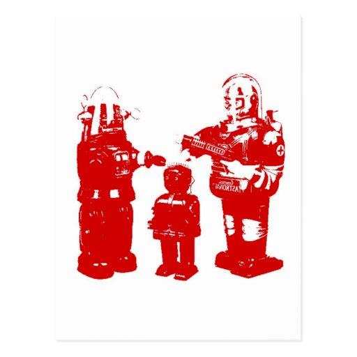 Retro Toy Robots Post Cards