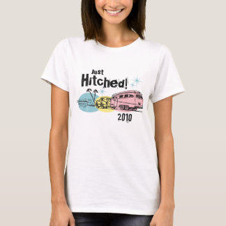 Retro Trailer Just Hitched Personalized T-Shirt
