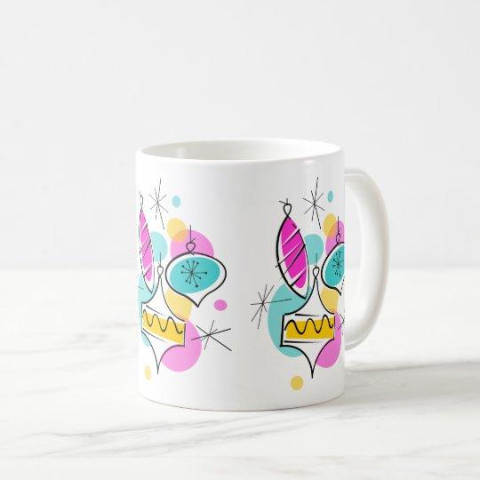 Retro Tree Baubles Group mug
