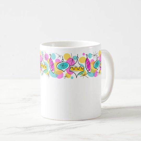 Retro Tree Baubles Line mug