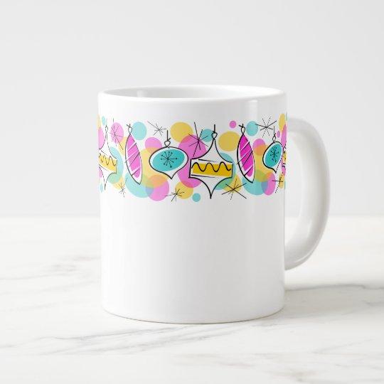 Retro Tree Baubles Line mug jumbo