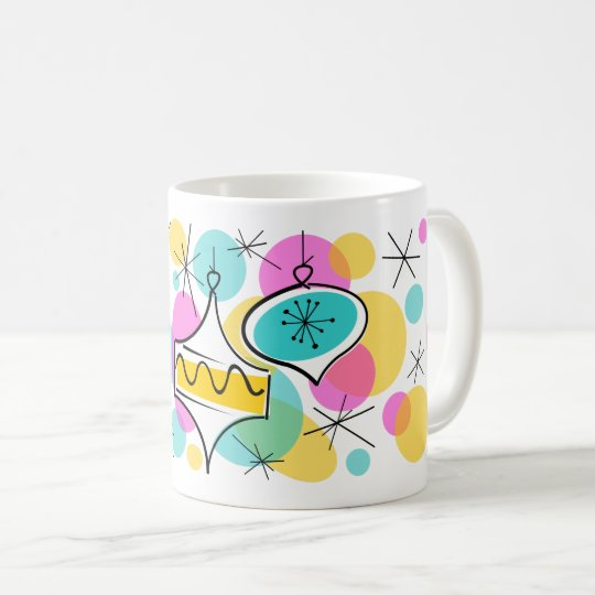 Retro Tree Baubles mug