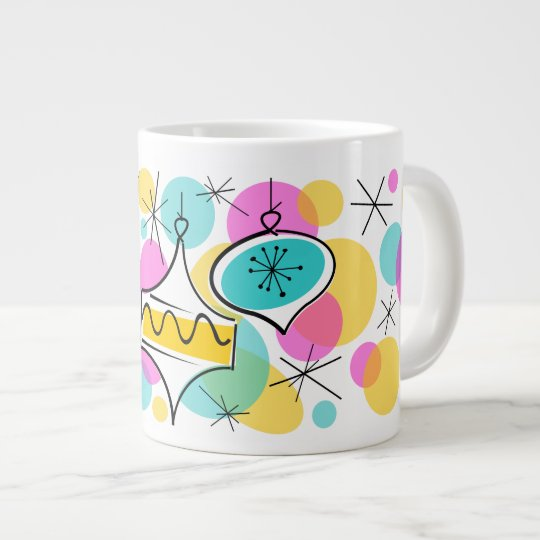 Retro Tree Baubles mug jumbo