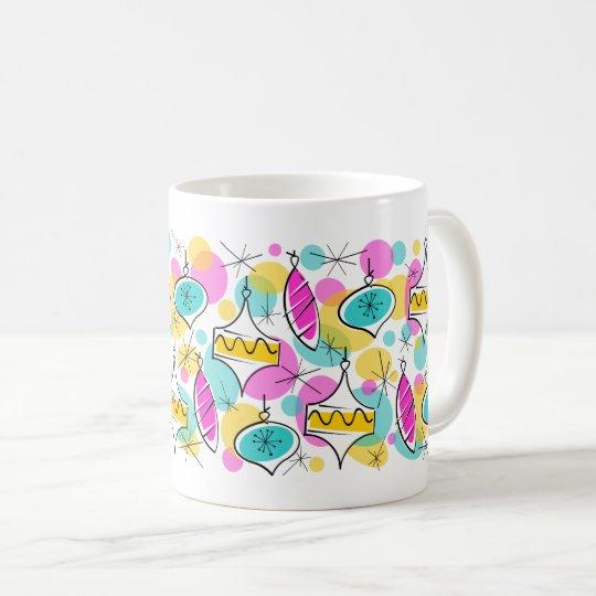 Retro Tree Baubles Multi mug