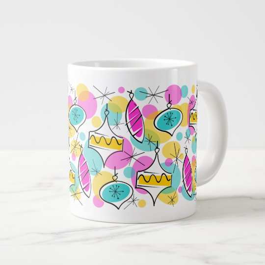 Retro Tree Baubles Multi mug jumbo