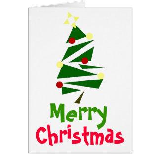 RETRO TREE CHRISTMAS GREETING CARD