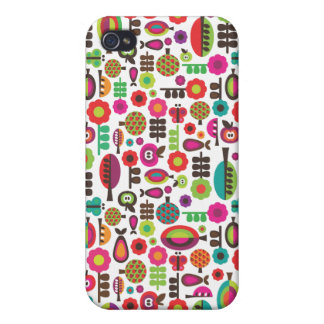 Retro trees and apples pattern iphone case iPhone 4 cases