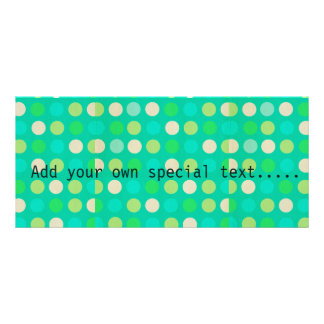 Retro,Trendy ,fun, polka dot, teal, pink, lime Rack Card