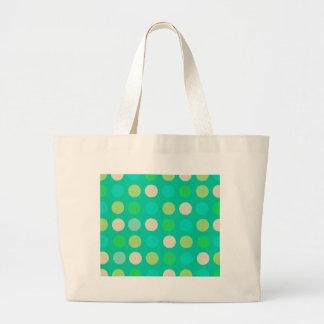 Retro,Trendy ,fun, polka dot, teal, pink, lime Tote Bags
