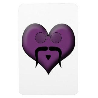 Retro Trendy Mustache Heart Rectangle Magnet