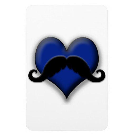Retro Trendy Mustache Rectangle Magnet