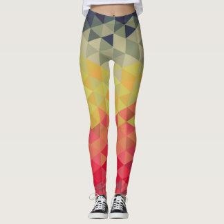 Retro Triangles Pattern Leggings
