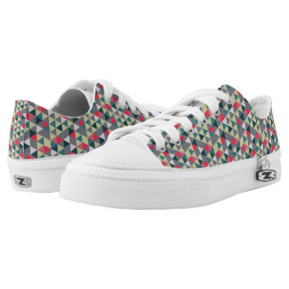 Retro Triangles Pattern Low Tops