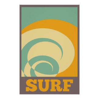 Retro Tribal Surf Poster