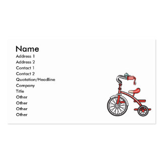 retro tricycle pack of standard business cards
