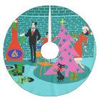 Retro Trimming the Christmas Tree Skirt