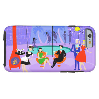 Retro Tropical Cocktail Party iPhone 6 Case